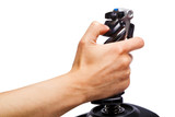 hand joystick control flight simulator
