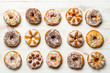 Group of colorfully decorated donuts