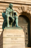 Statue of Thomas Jefferson at courthouse in Cleveland Ohio
