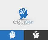 Symbol of Creative Brain, isolated vector design