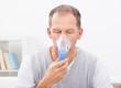 Man Doing Inhalation