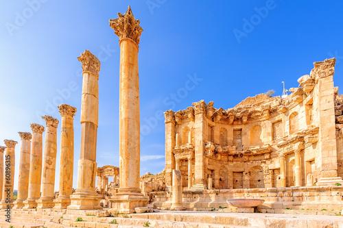 Nymphaeum in the ancient Jordanian city of Jerash, Jordan. - 60896315
