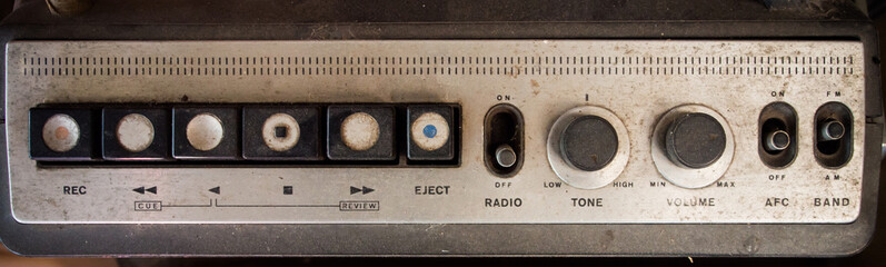 Old music player/radio panel button