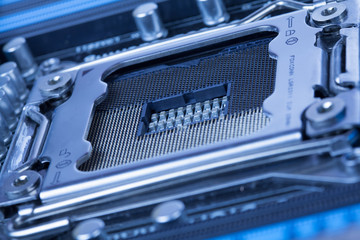 Computer microchip socket Processor