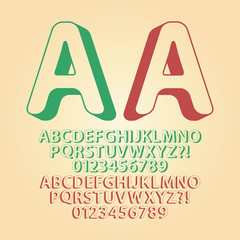 Rounded Upwards Isometric Alphabet and Digit Vector