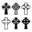 Irish, Scottish celtic cross vector sign