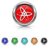 Atoms icon - six colours set