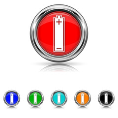 Battery icon - six colours set