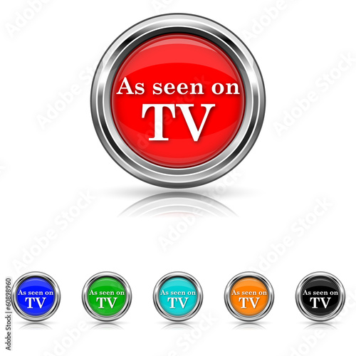 As seen on TV icon - six colours set