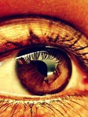 macro shot of a female eye