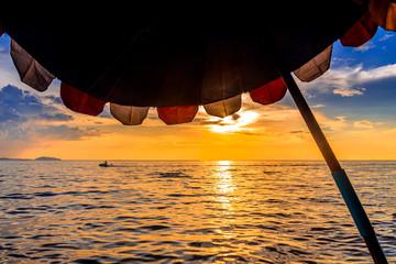 Sunset at Bangsaen Beach