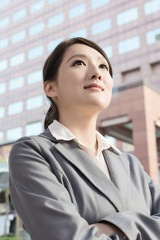 Young pretty Asian business woman portrait