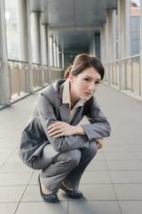 Business woman feel sad