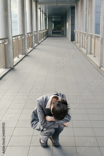Business woman feel helpless and sadness