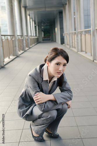 Business woman feel sad