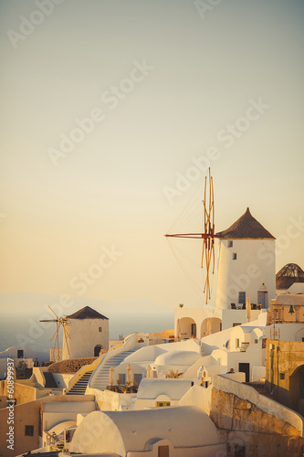 unique Santorini architecture. Greece