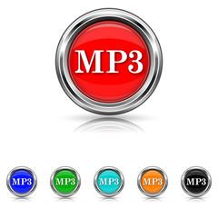 MP3 icon - six colours set