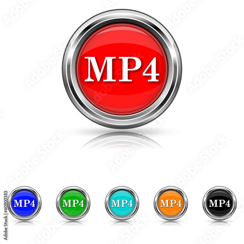 MP4 icon - six colours set