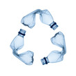 Concept of recycle.Empty used plastic bottle on white background - 60901534