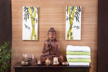 Dekoration asiatisch in der Thai Massage