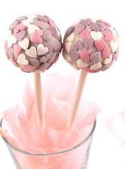 cake pops cuori rosa