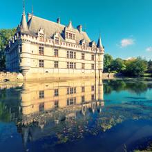 Le château de Azay-le-Rideau, France