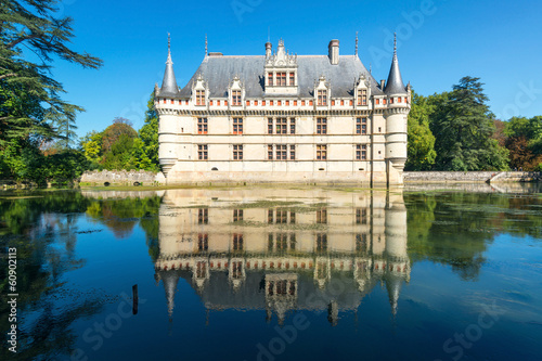 The chateau de Azay-le-Rideau, France