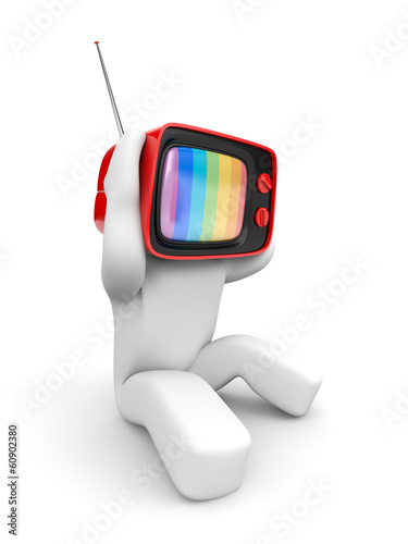 TV head with headaches