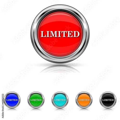 Limited icon - six colours set