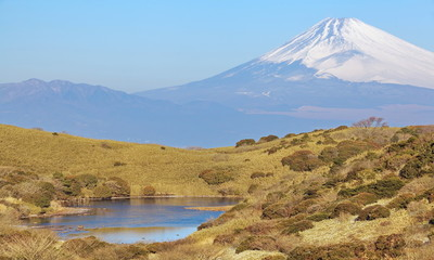 Mountain Fuji in winter season