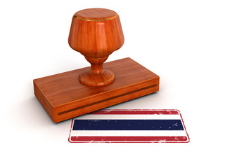 Rubber Stamp Thai flag (clipping path included)