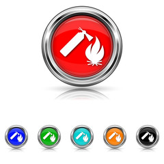 Fire icon - six colours set