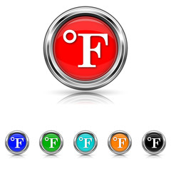 Fahrenheit icon - six colours set