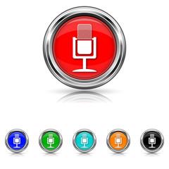 Microphone icon - six colours set