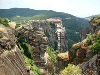 mountain landscape Meteora, Greece