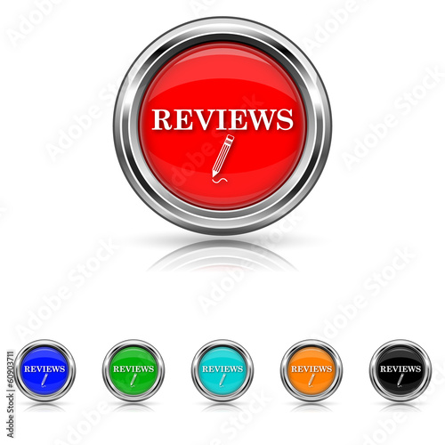 Reviews icon - six colours set