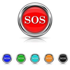 SOS icon - six colours set
