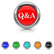 Q&A icon - six colours set