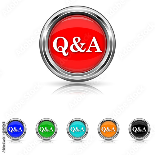 Q&A icon - six colours set