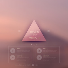 Vector web and mobile interface template. Corporate website desi