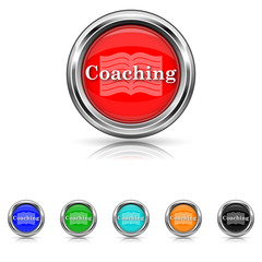 Coaching icon - six colours set