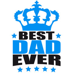 Best King Dad Ever Logo Design
