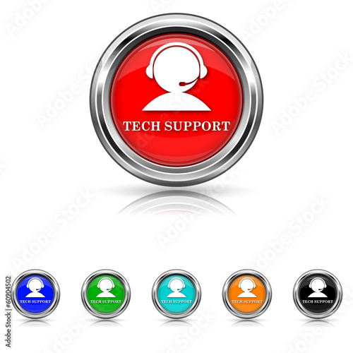 Tech support icon - six colours set