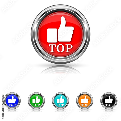 Top icon - six colours set