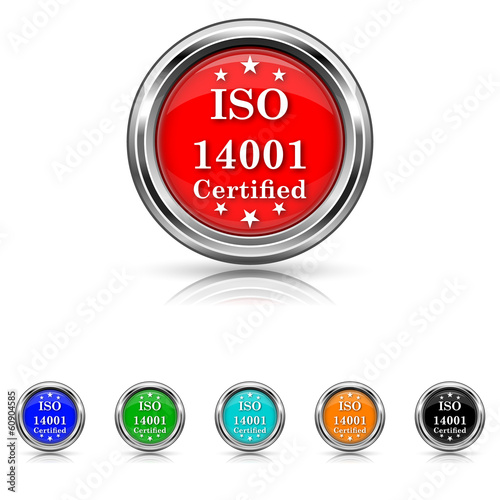 ISO14001 icon - six colours set