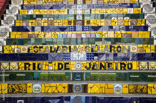 Poster Treppe in Santa Teresa, Rio, Brasilien