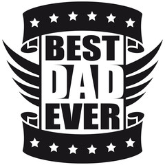 Best Dad Ever Wings Logo-Design