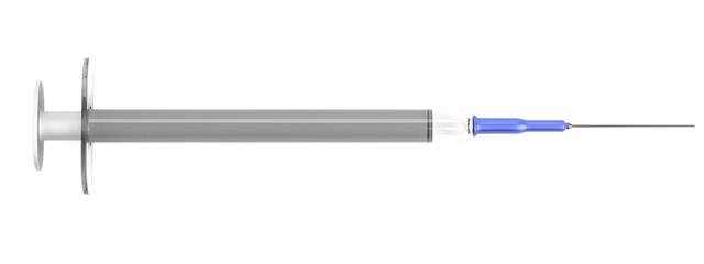 realistic 3d render of syringe