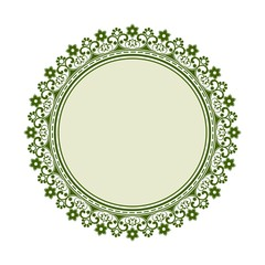 Round ornament with floral elements