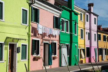 Laundry on Pink Burano Building